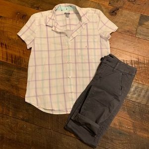 NWOT aerie short sleeve button down